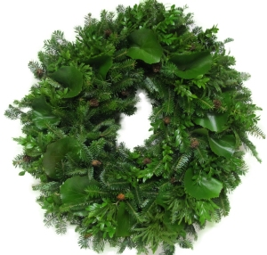 mountain greenery wreath