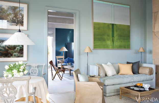 With pop of green, the room is young and chic.
