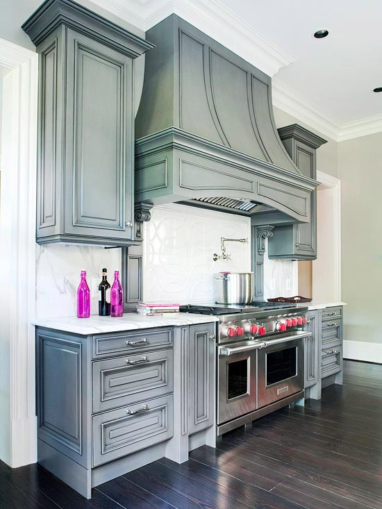 This is Gwyneth Paltrow's KITCHEN. Love the shade of gray.