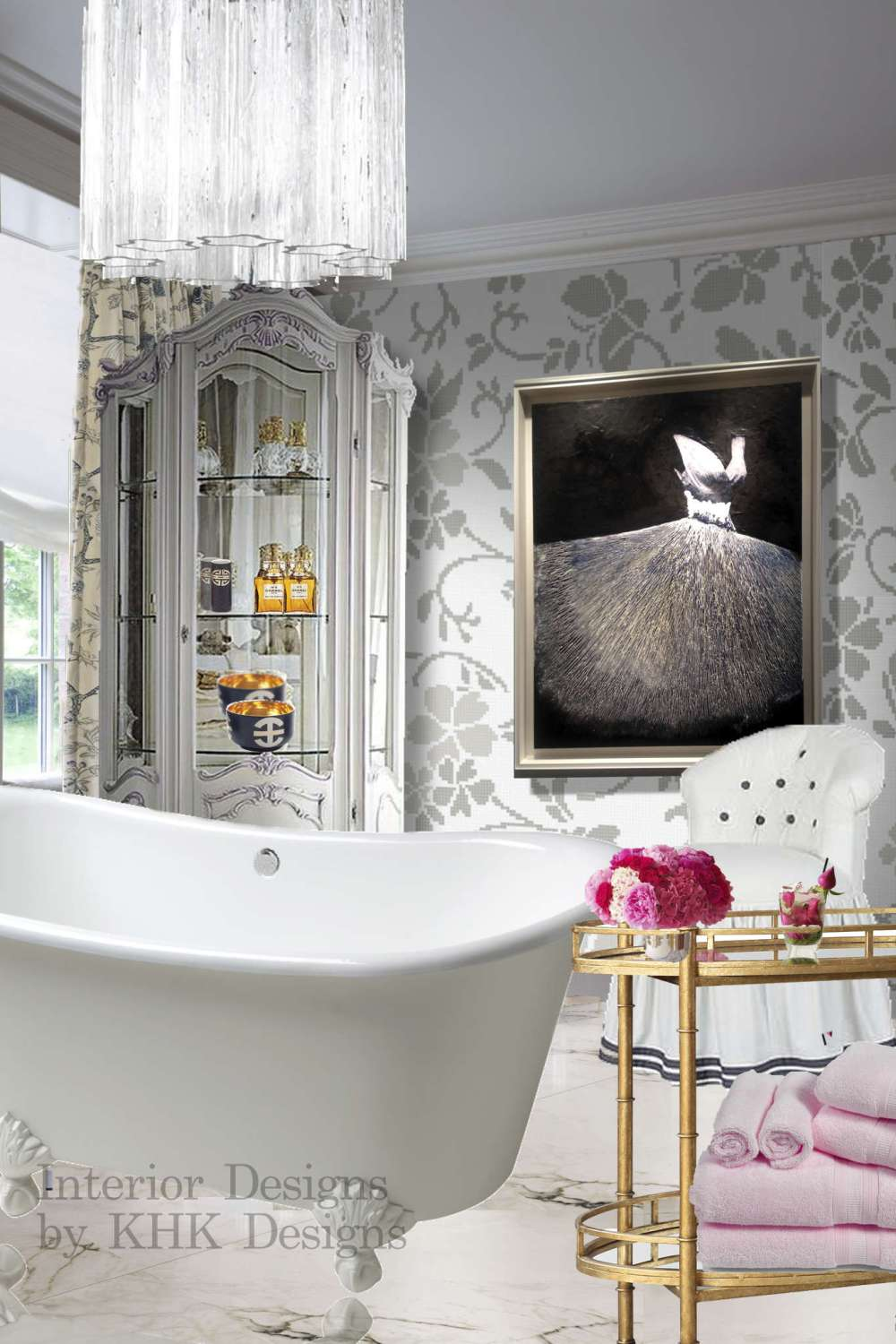 a stylish master bath