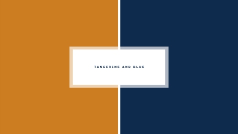 Tangerine and blue