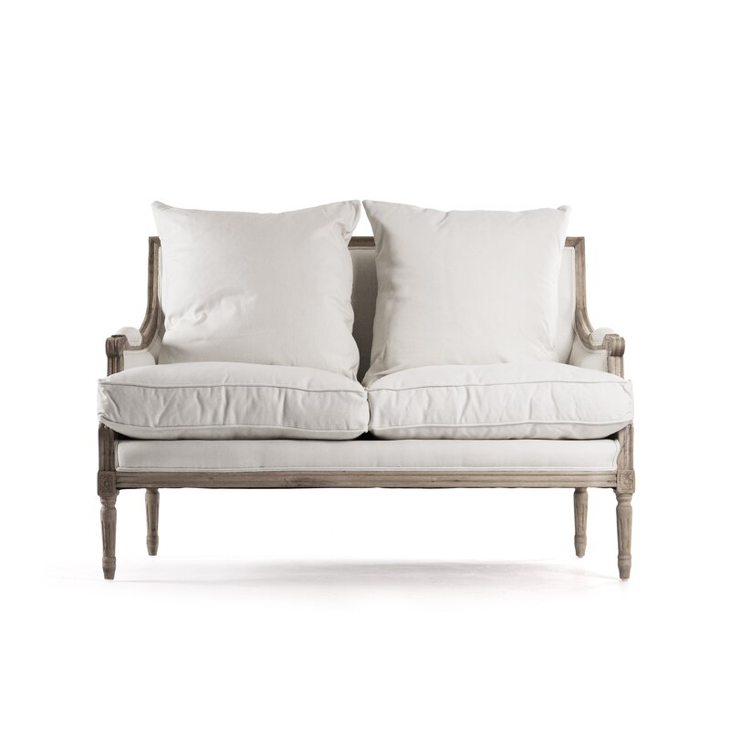 Bodil+Cotton+48+Recessed+Arm+Loveseat