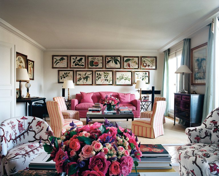 Lee-Radziwill's-Paris-Apartment-Reception-Room