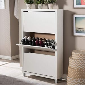 Shoe CABINET STORAGE WHITE