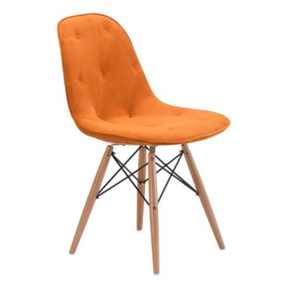 Jovanny+Metal+Stacking+Side+Chair+in+Orange