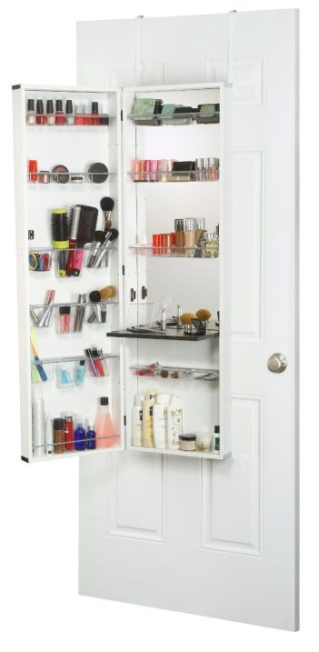Over-The-Door-Hanging-Cosmetic-Organizer-With-Mirror-A