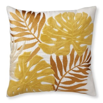 palm-leaf-velvet-applique-pillow-cover-sunshine-c