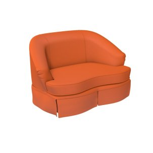 Tini+Curved+Loveseat