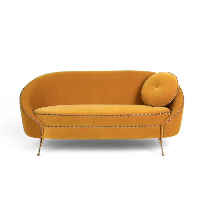 Velvet+65+Recessed+Arm+Loveseat