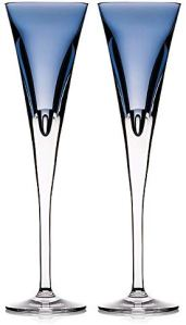 Waterford W Flute Set of 2 Sky blue