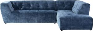 modern blue tufted sectional