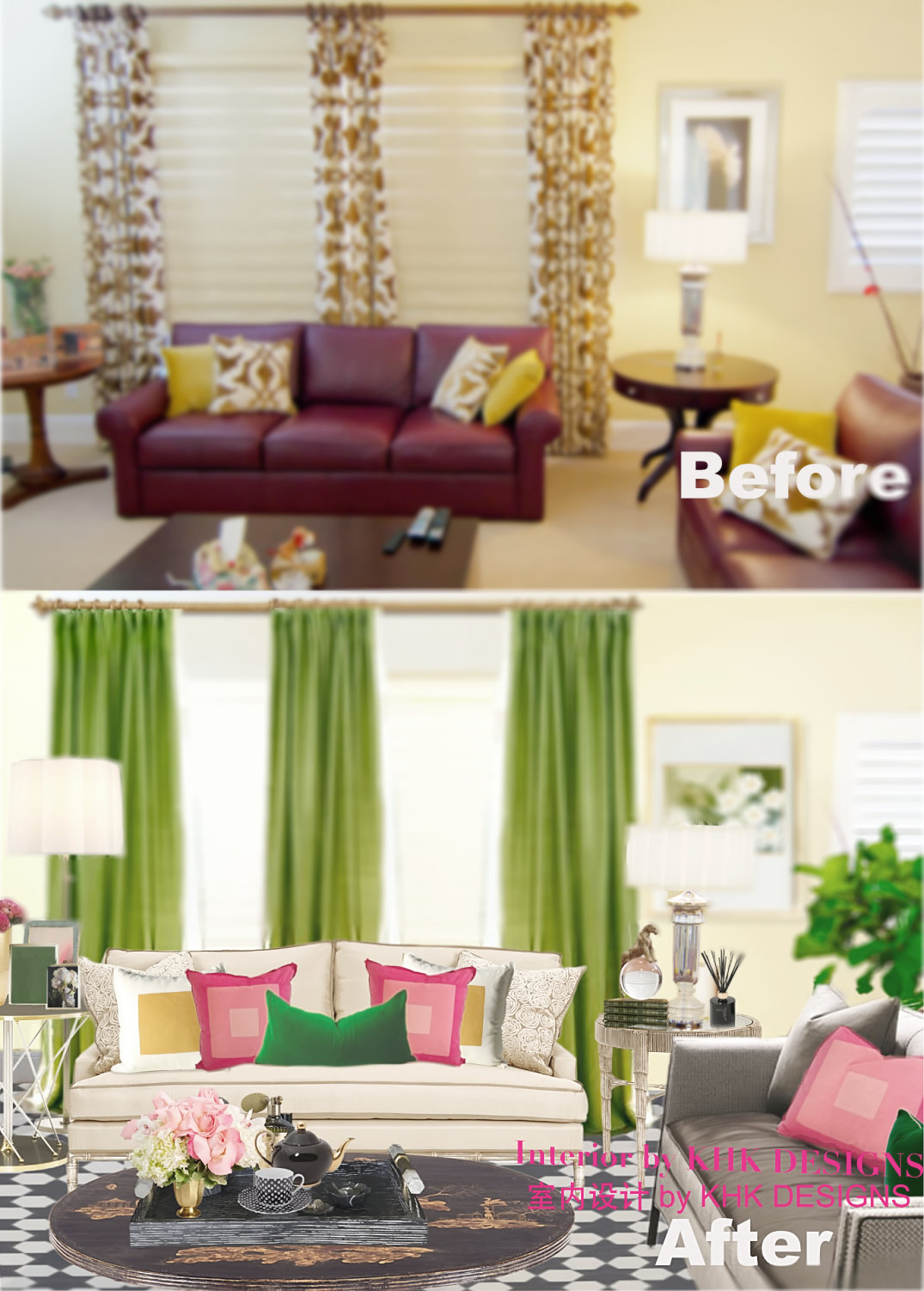 beforeafter-Mrs.ZhangLivingRoom