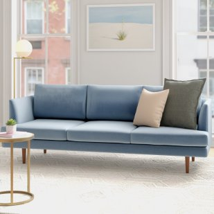 Celia+Velvet+84+Recessed+Arms+Sofa