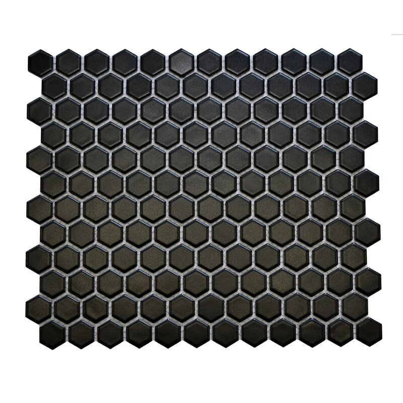 Classic+Hexagon+12+x+10+Porcelain+Mosaic+Tile