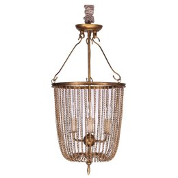 Cressida+Metal+Chain+Collapsible+5-Light+Drum+Chandelier
