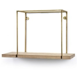Lasalle+Hanging+Brass+Frame+Accent+Shelf