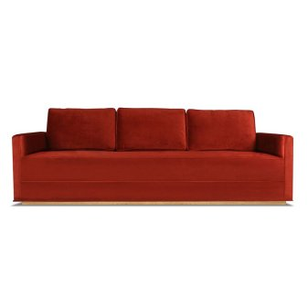 Nikhil+Velvet+84+Square+Arm+Sofa