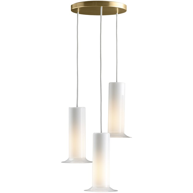 Purist+3-Light+Cluster+Geometric+Pendant