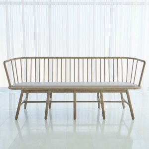Spindle+Upholstered+Bench
