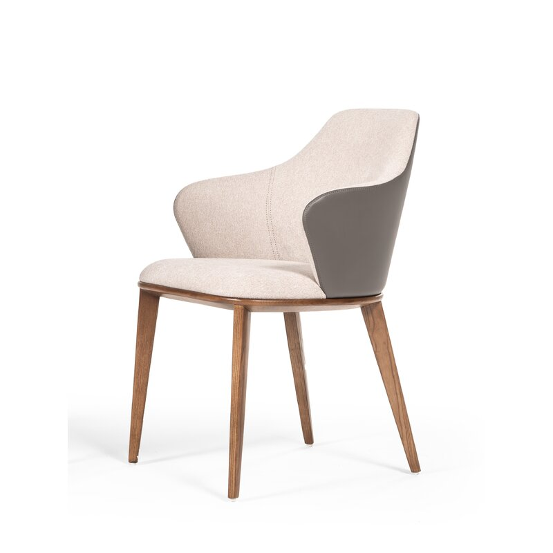 Bostrom+Modern+Beige++Grey+Dining+Chair