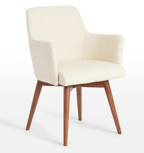 cream mid-century chair
