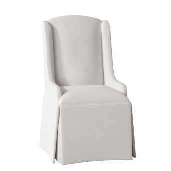 Doric+Petite+Wing+Back+Skirted+Upholstered+Dining+Chair