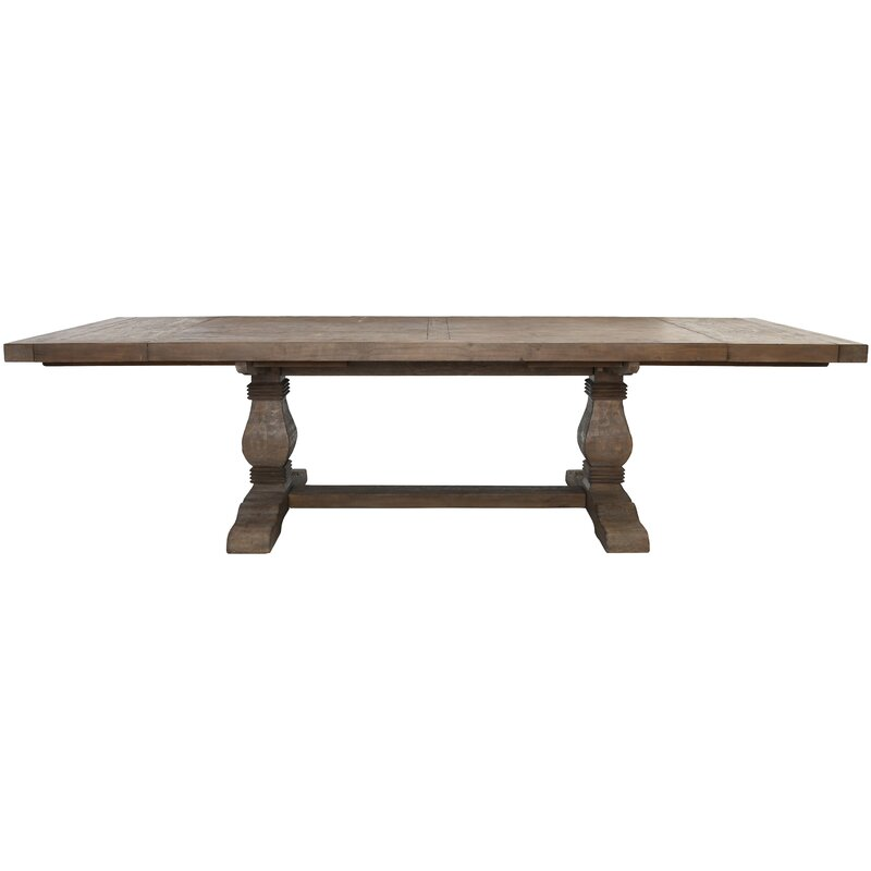 Gertrude+Extendable+Solid+Wood+Dining+Table