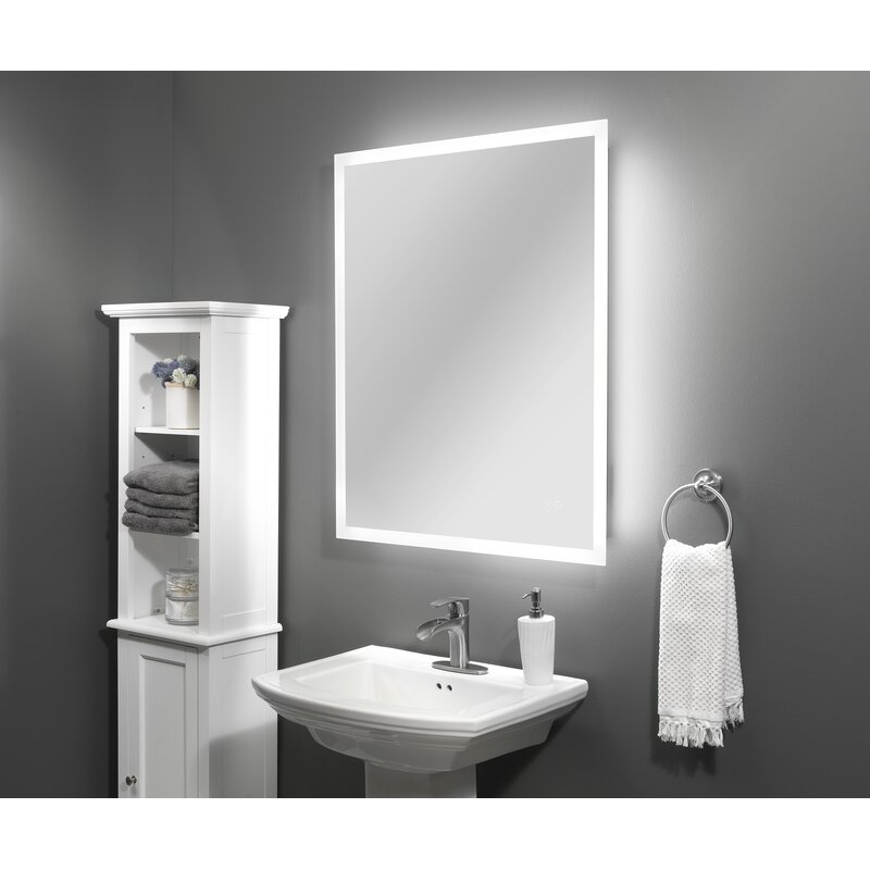 LED+Mirror+30x36Blutetooth+speaker+dimmable+switch+anti-fog