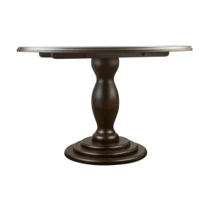 Leyt+Round+Pedestal+Solid+Wood+Dining+Table