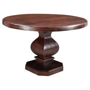 Maliyah+Pedestal+Solid+Wood+Dining+Table