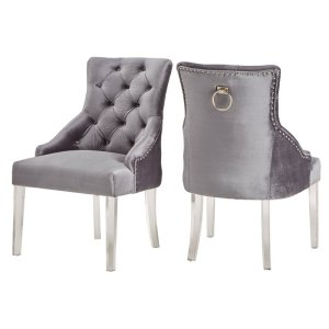 grey+Seville+Upholstered+tufted+Dining+Chair