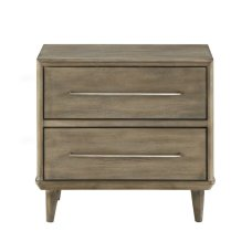Treyvon+Wooden+2+Drawer+Nightstand