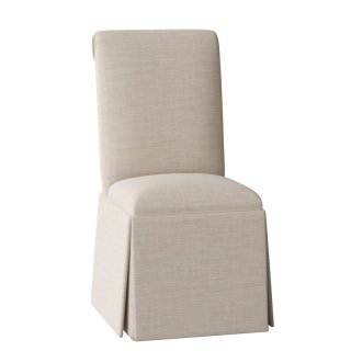 Weare+Solid+Back+Skirted+Upholstered+Dining+Chair