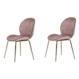 Wentz+Velvet+Upholstered+Metal+Side+Chair+in+Pink