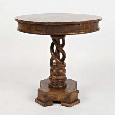 Wildomar+Solid+Wood+Pedestal+End+Table