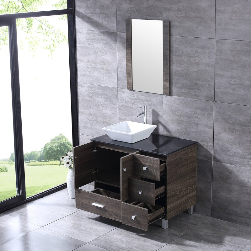 Wybolt+36+Free-standing+Single+Bathroom+Vanity+with+Mirror