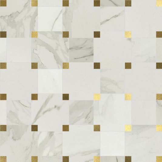 1Harper+6.125+x12.25+Porcelain+and+Metal+Mosaic+Tile