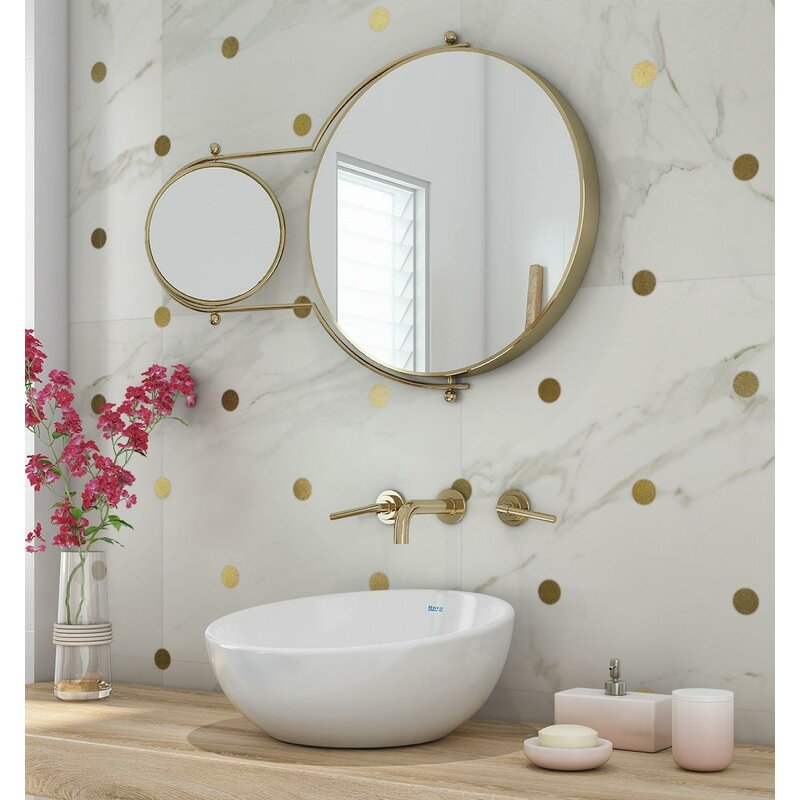 3Kait+23.5+x+23.5+Porcelain+and+Metal+Mosaic+Tile