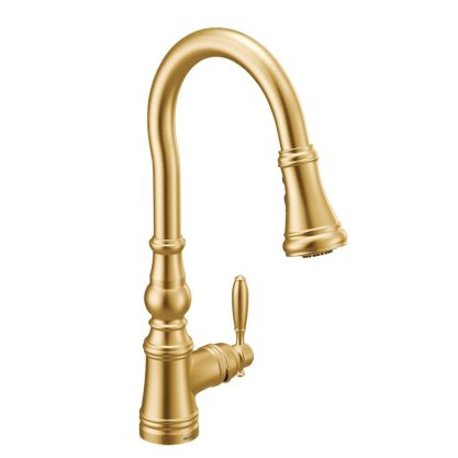Weymouth+One-Handle+Pull+Down+Single+Handle+Kitchen+Faucet+with+Power+Boost