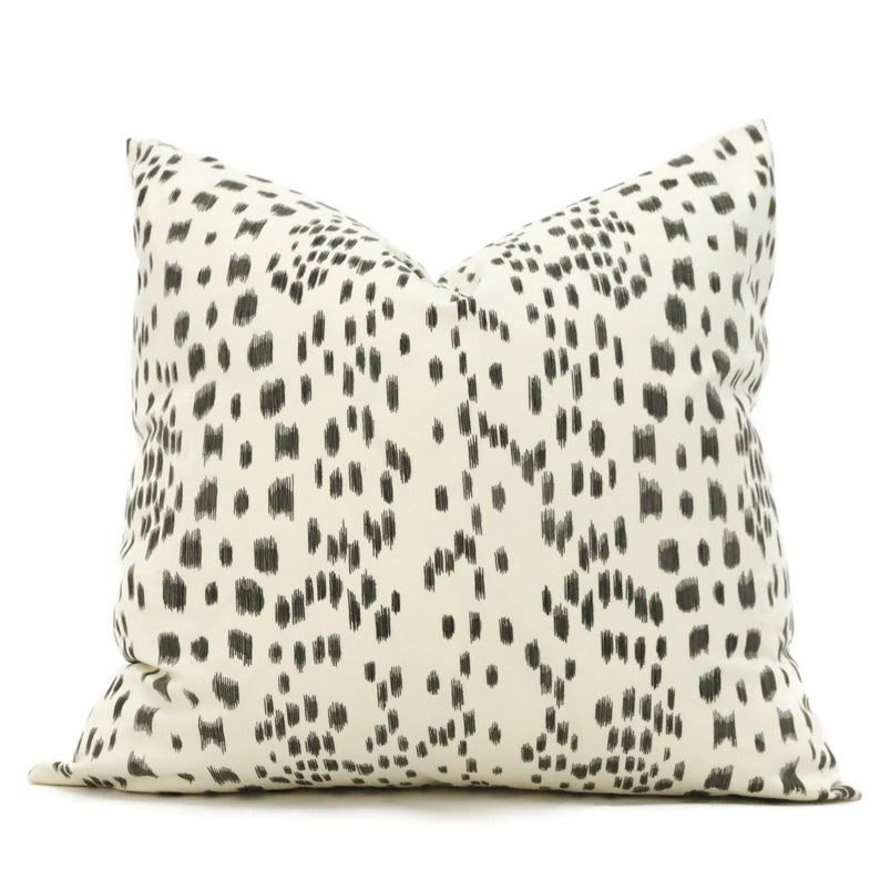 iconic white Brunschwig and Fils abstract pattern pillow