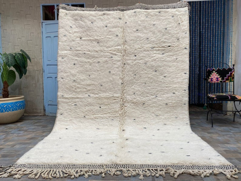 White Moroccan Hand-made Rugs