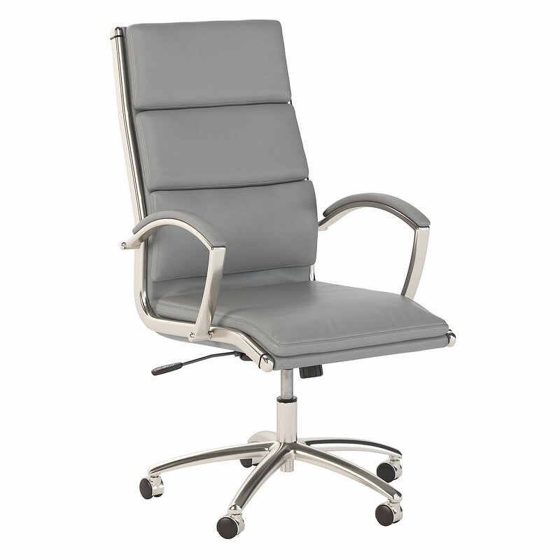 This image has an empty alt attribute; its file name is bushbusinessfurniture400serieshighbackleatherconferencechair.jpg