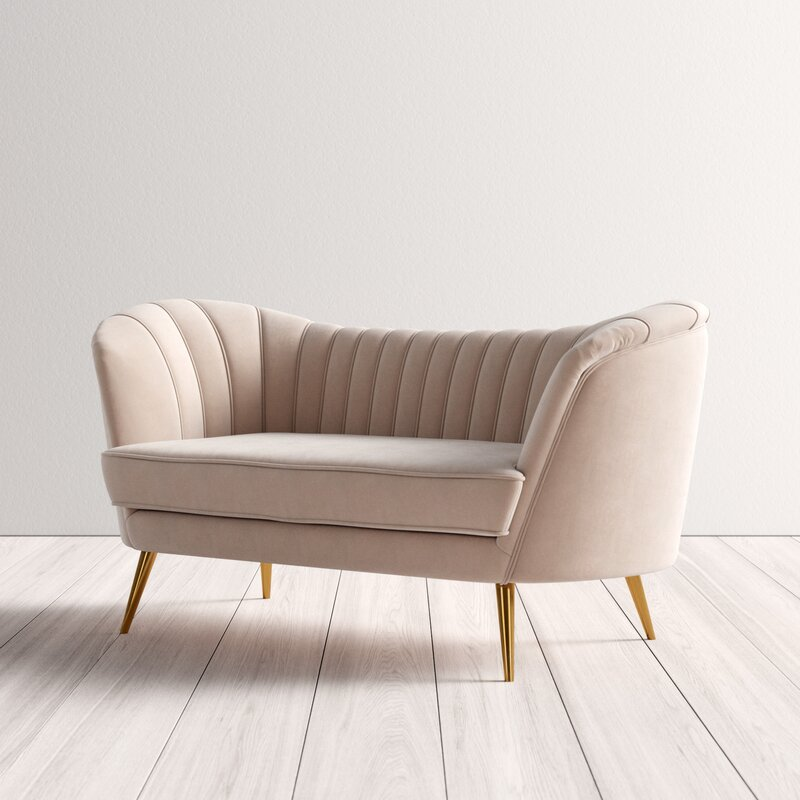 This image has an empty alt attribute; its file name is lilovelvet6522roundarmloveseat.jpg