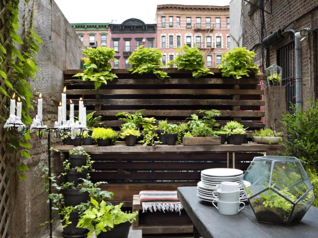 chic urban outdoor living space