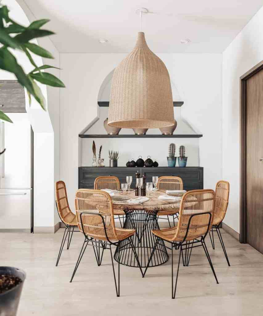 natural element in this dining room
