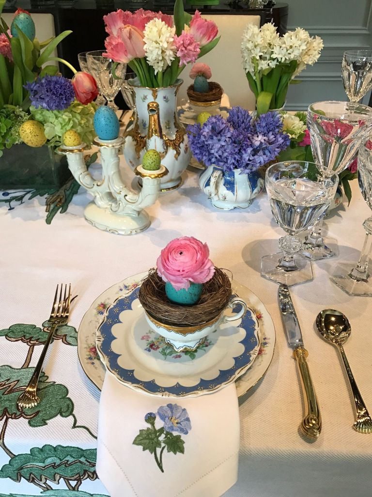 classical Easter tablescape