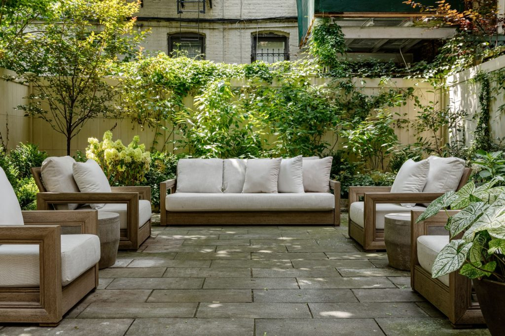 A comfy setup for this outdoor living space