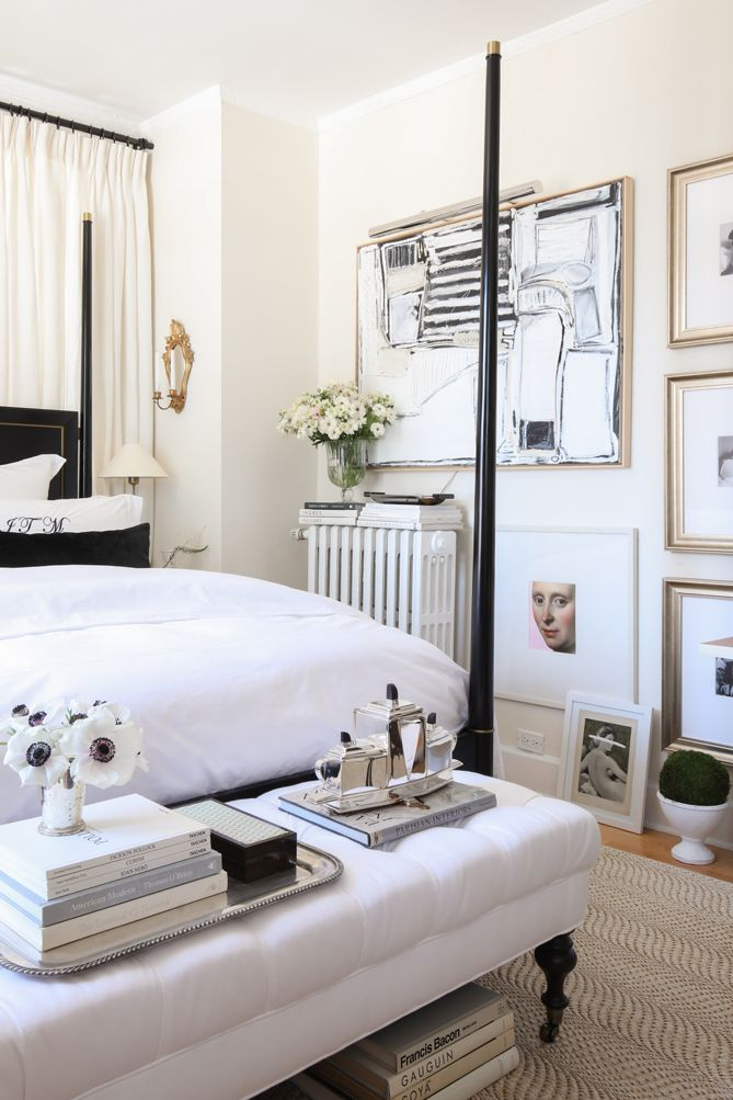 modern and classical white bedroom