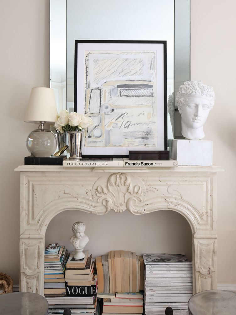 old and new mantle vignette