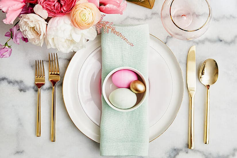 modern Easterr tablescape with marble table